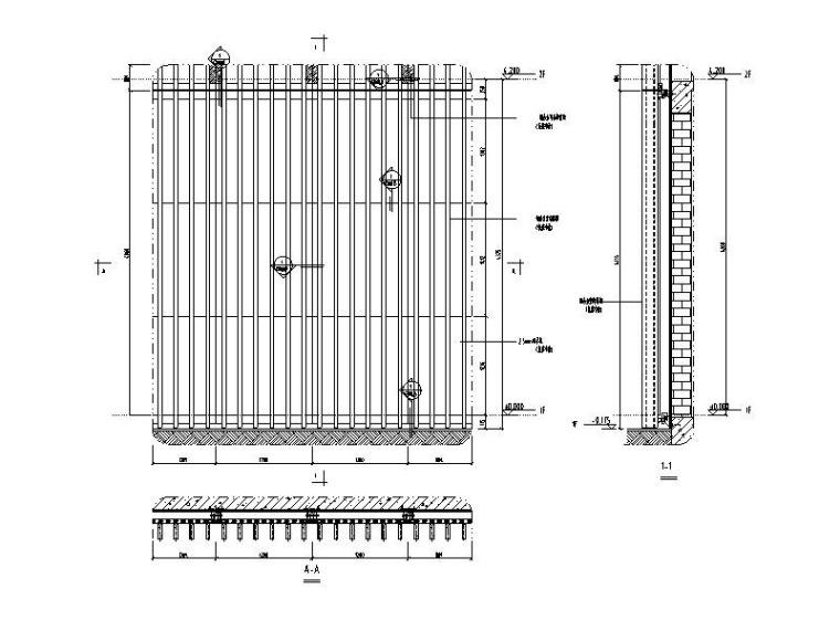 铝合金格栅系统标准图CAD