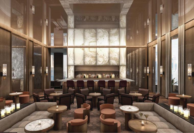 卡塔尔多哈艾迪逊酒店软装设计方案+效果图