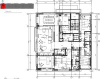 [北京]现代风格三居室样板间室内装修施工图