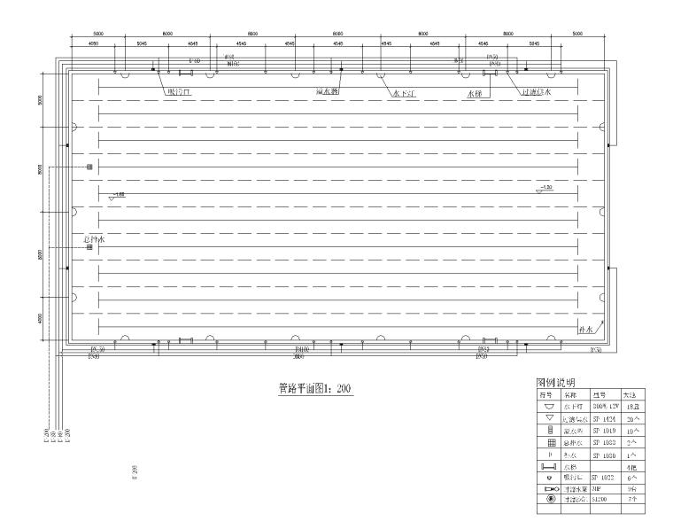 标准泳池CAD平面图