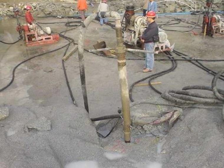 电站大坝基础钻孔与灌浆工程施工工艺