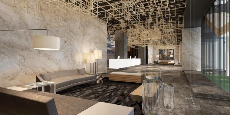 哈尔滨际丰酒店室内深化设计方案+效果图