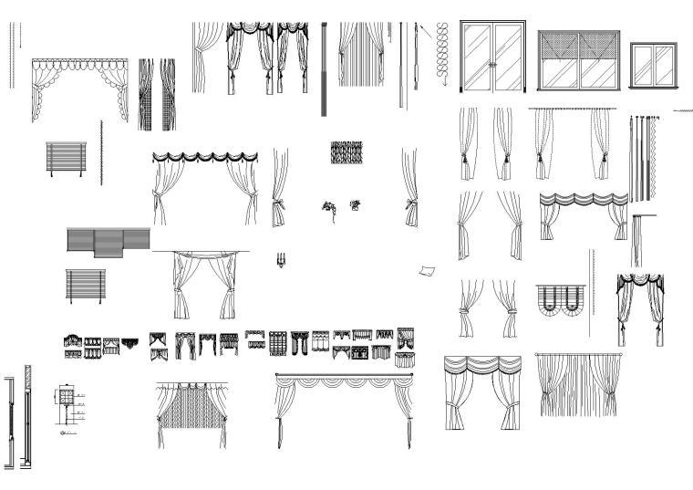 欧式室内CAD图块(图纸线性,卫浴洁具等)