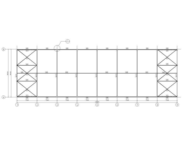 某18米单跨钢结构厂房结构施工图(CAD)