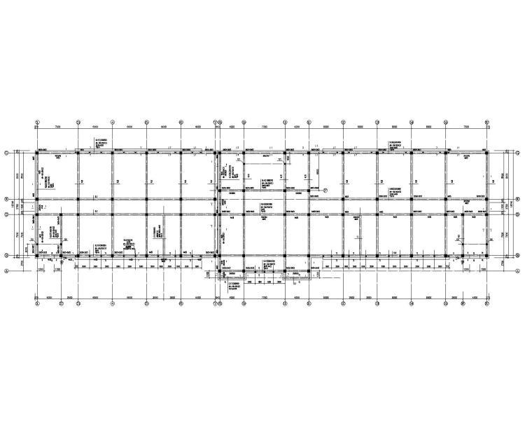 某五层学校教学楼框架结构施工图(CAD)