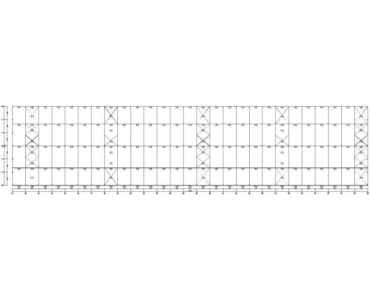 36米单跨钢结构厂房结构施工图(CAD)