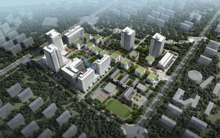 安徽现代风格产业园建筑模型设计