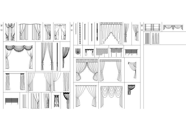 室内装饰CAD图块(家具,门表,工艺品等)