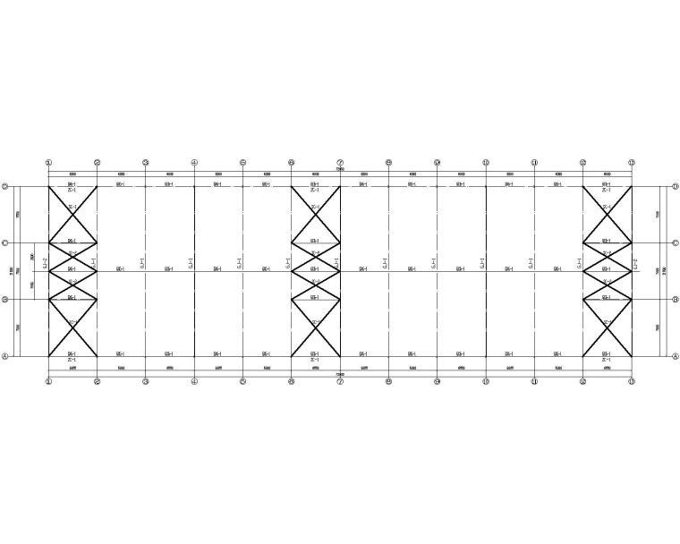22米单跨钢结构厂房结构施工图(CAD)
