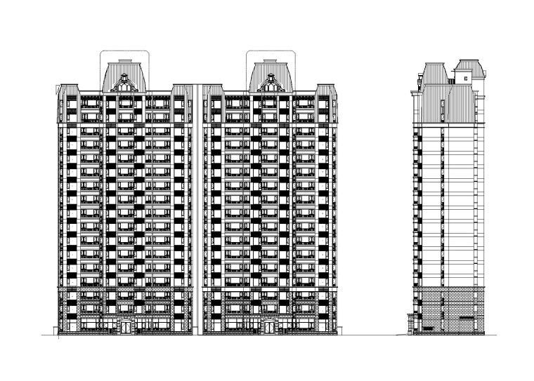 一线地产公司高层住宅楼设计建筑施工图