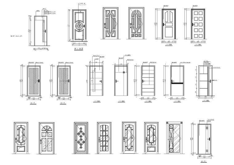 门立面图块2