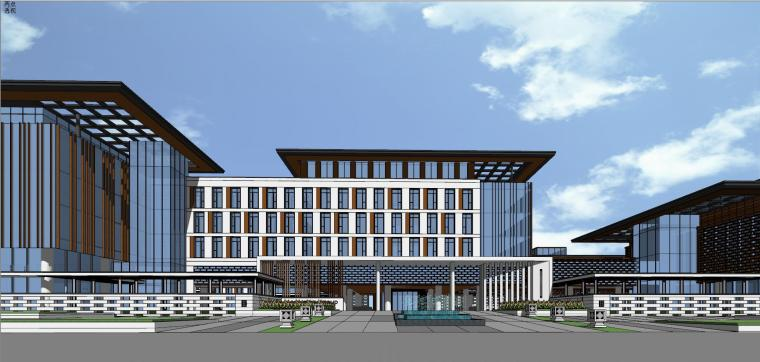 新中式风格集团产业园建筑设计