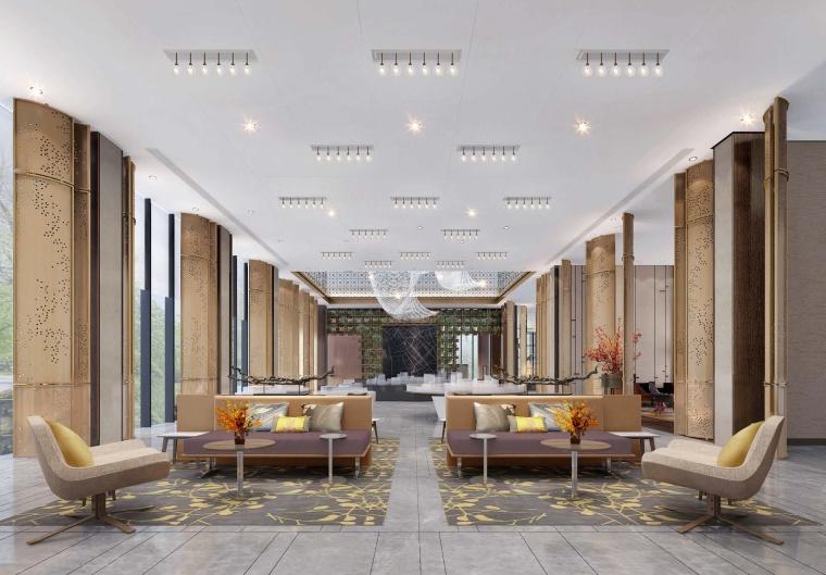 保利鹤山中央花园售楼处设计方案+效果图