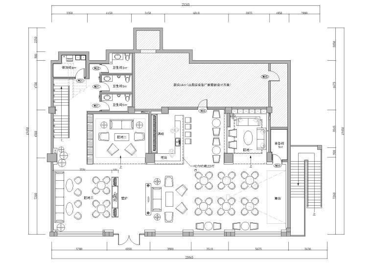 工业风复古loft酒吧项目施工图+效果图