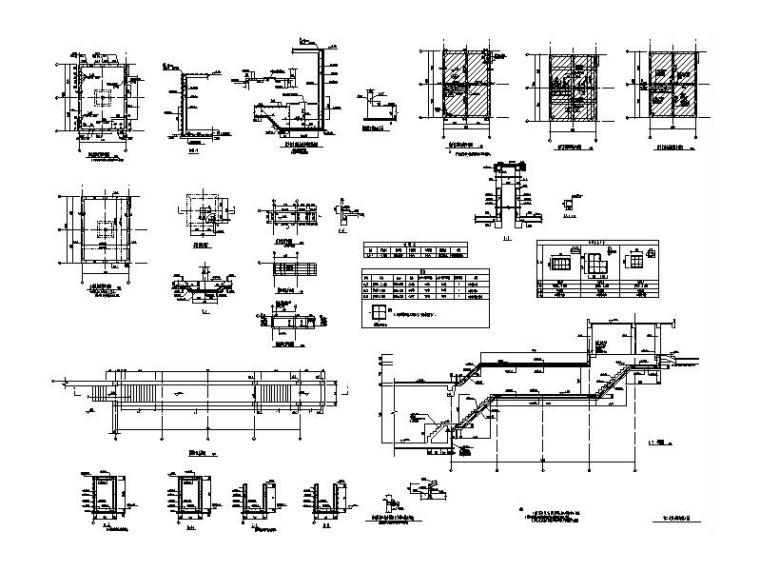 中水处理站+二次泵站+水池等建筑结构施工图