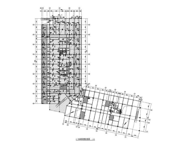 9层钢混框架结构办公楼加固改造施工图2017