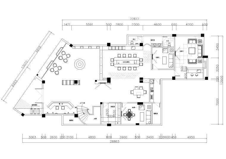 [福建]新罗区布兰奇酒庄装修设计项目施工图