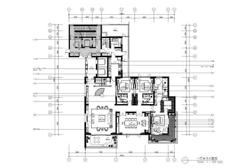 [上海]-汤臣一品复式豪宅730㎡施工图+效果