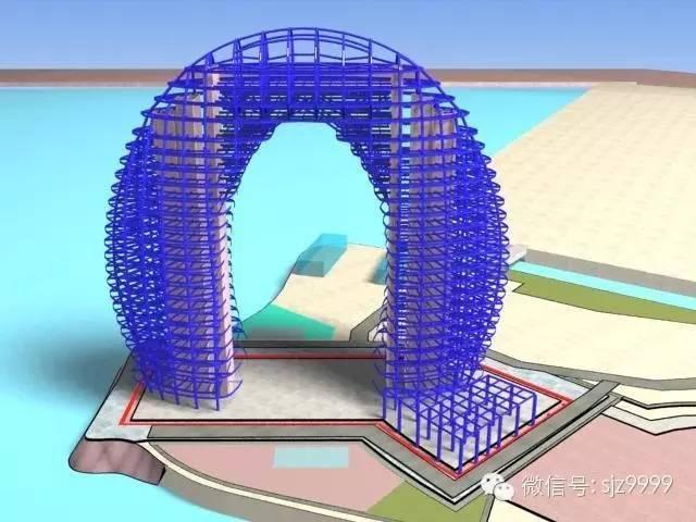 """二层钢结构酒店施工图资料下载-""""月亮酒店""""钢结构施工关键技术分析"""