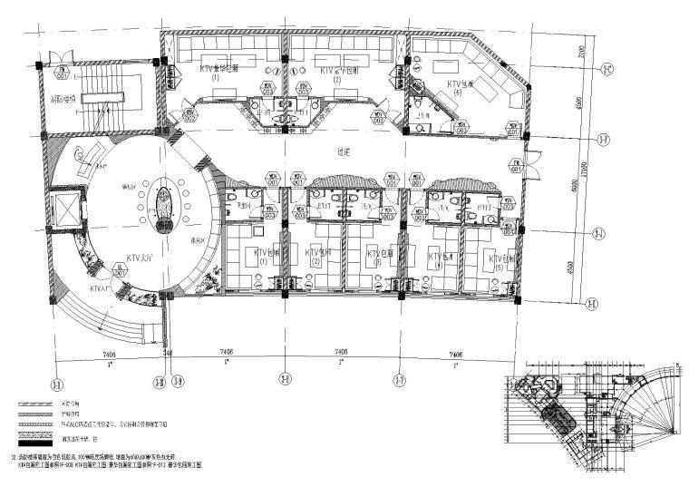 金螳螂KTV室内装饰设计项目施工图