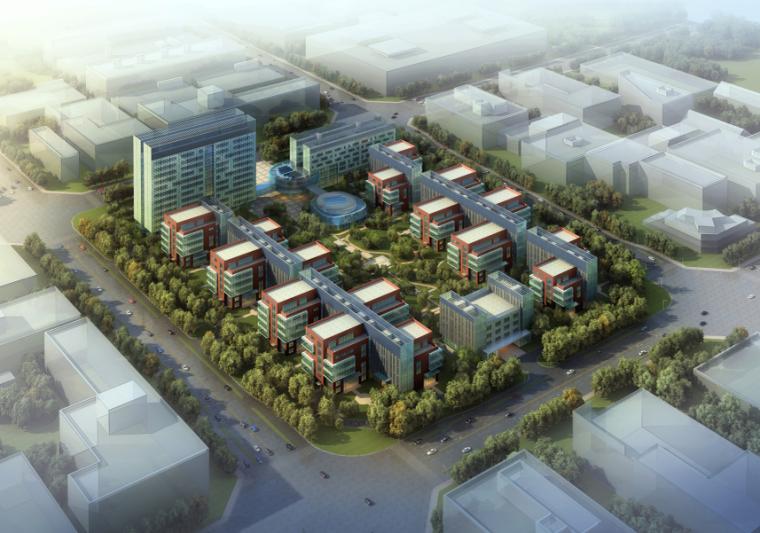[北京]某生物医药产业园建筑设计方案文本