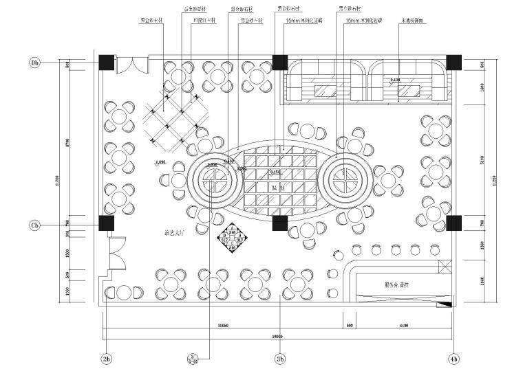 B区三层演艺厅平面图