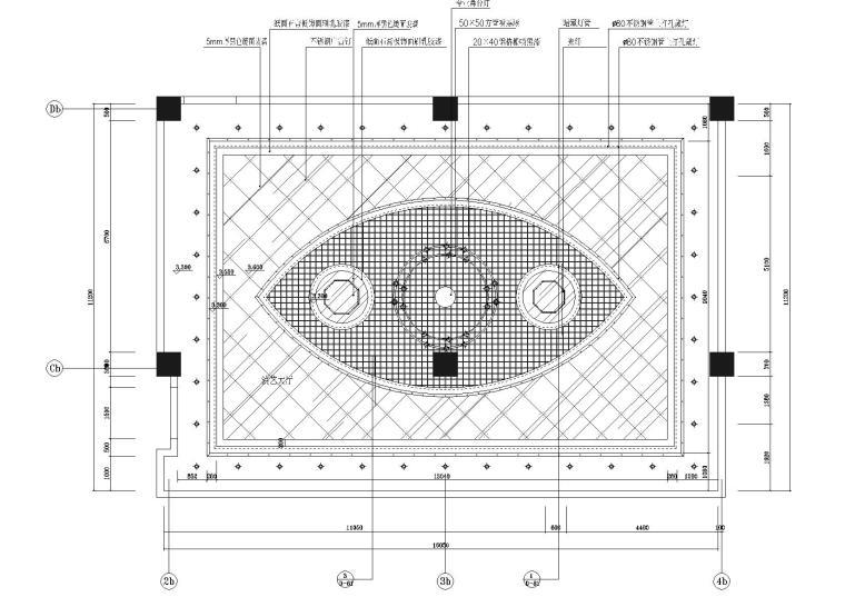 B区三层演艺厅天花图