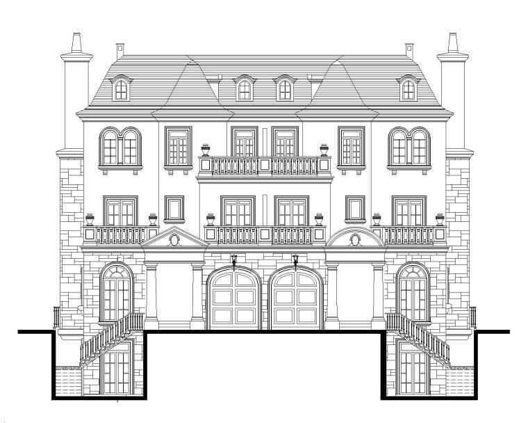 3层异形柱框架结构别墅建筑结构施工图