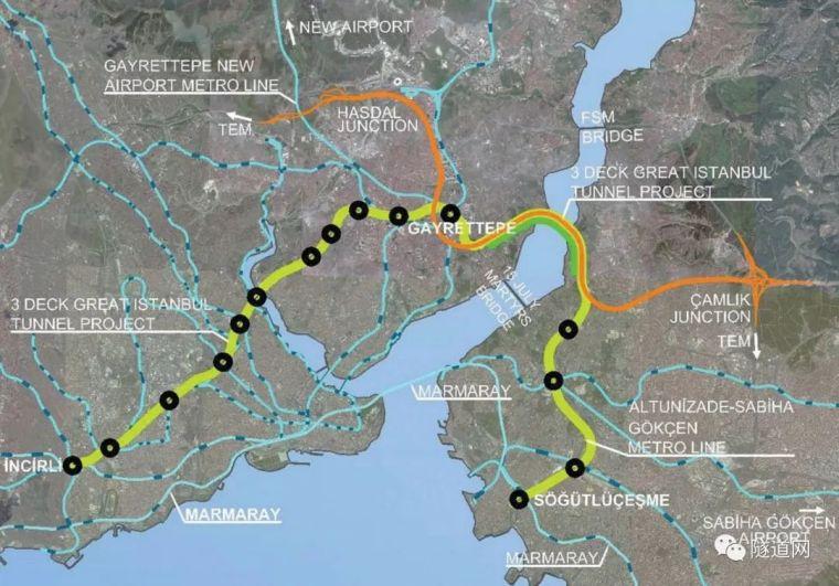 伊斯坦布尔16.8m超大直径三层隧道的设计