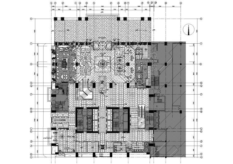 [广东]希尔顿商务酒店设计施工图+效果图