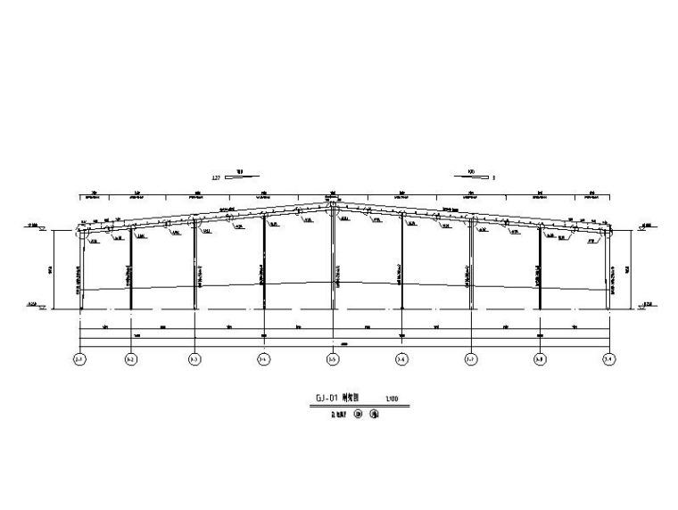 仓库基础施工资料下载-单层门式刚架产业园仓库结构施工图
