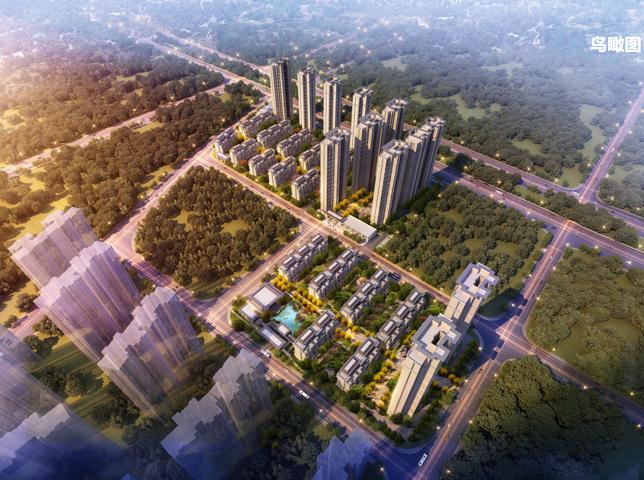 [长沙]某居住区洋房高层新中式示范区方案