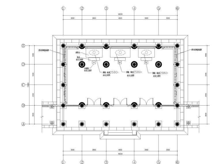 苏州观音园_2800㎡_室内装修CAD施工图