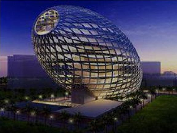 印度巨蛋办公楼房-太阳能建筑