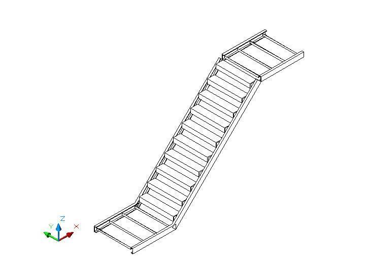 单跑钢结构楼梯计算书