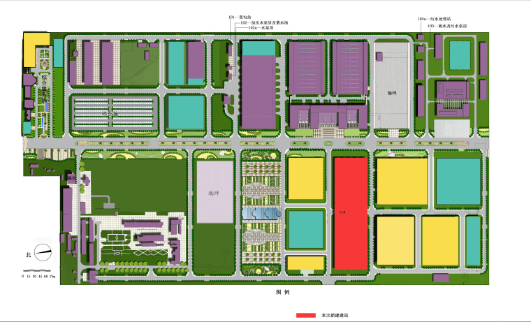 平面厂房规划规划文本资料下载-航天科工集团11号车辆装配调试厂房规划