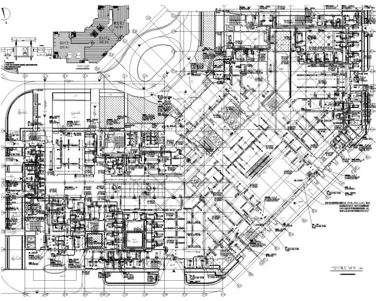 [一键下载]10套医院暖通空调设计施工图资料