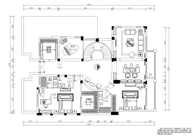 [四川]-成都麓山国际别墅住宅施工图+效果图