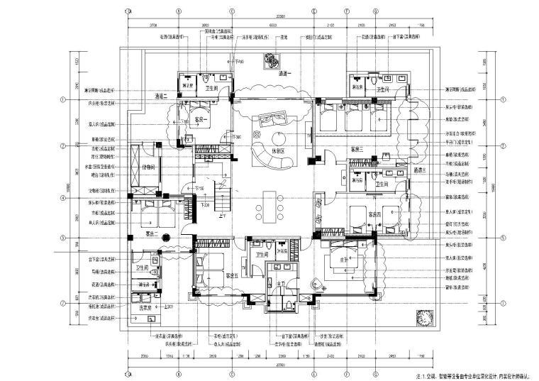 [海南]-清水湾珊瑚宫殿900㎡别墅施工图