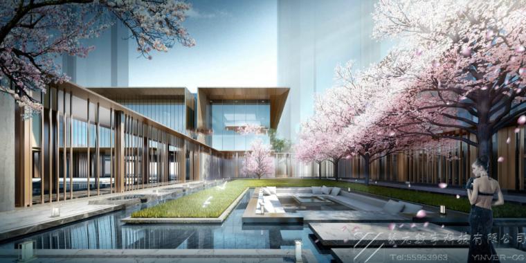 现代风格示范区建筑模型设计方案二