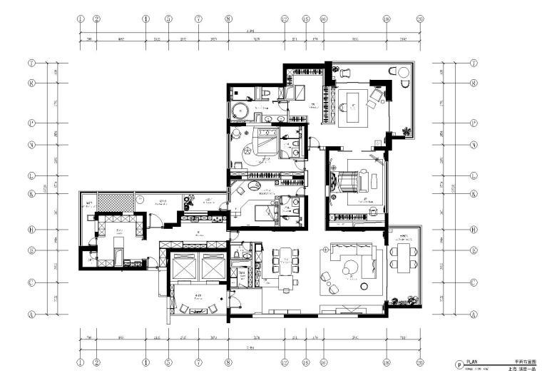 [上海]汤臣一品现代轻奢住宅施工图+效果图