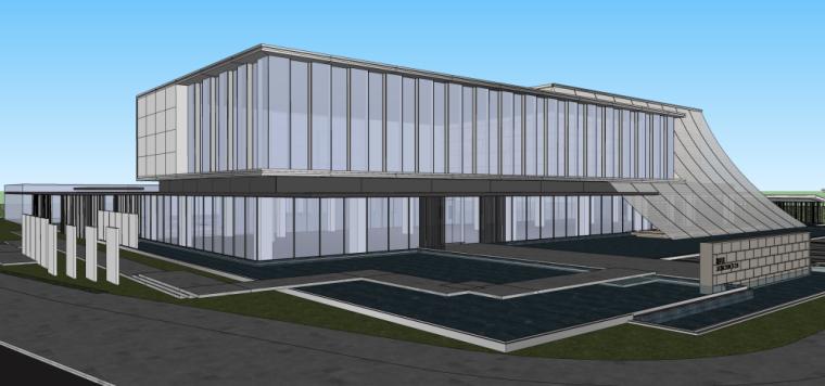 现代风格江南国际城建筑模型设计