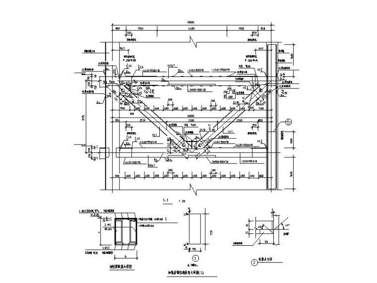 钢桁架节点详图CAD