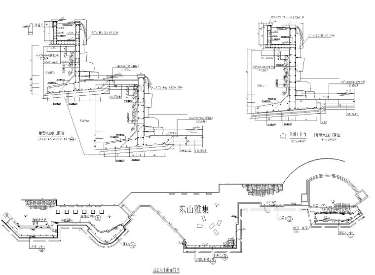 雕塑水池结构CAD施工详图