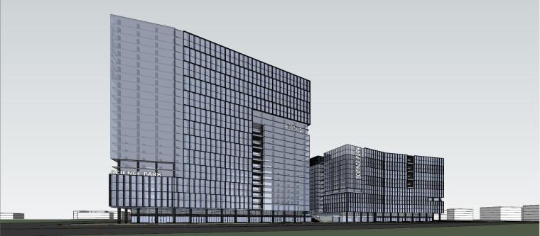 产业园-办公-科兴科学园建筑模型设计