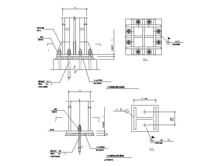 钢框架结构节点详图CAD