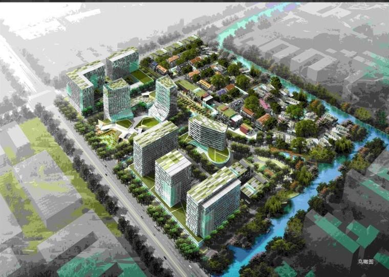 现代风格办公产业园建筑模型设计