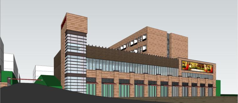 产业园办公金汉灯饰厂房模型设计