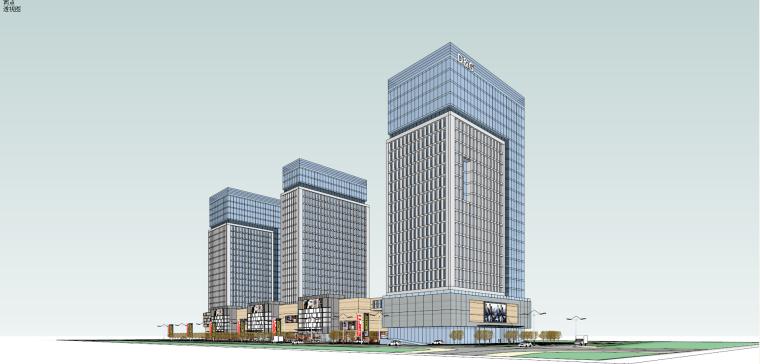現代風格辦公產業園建筑模型設計