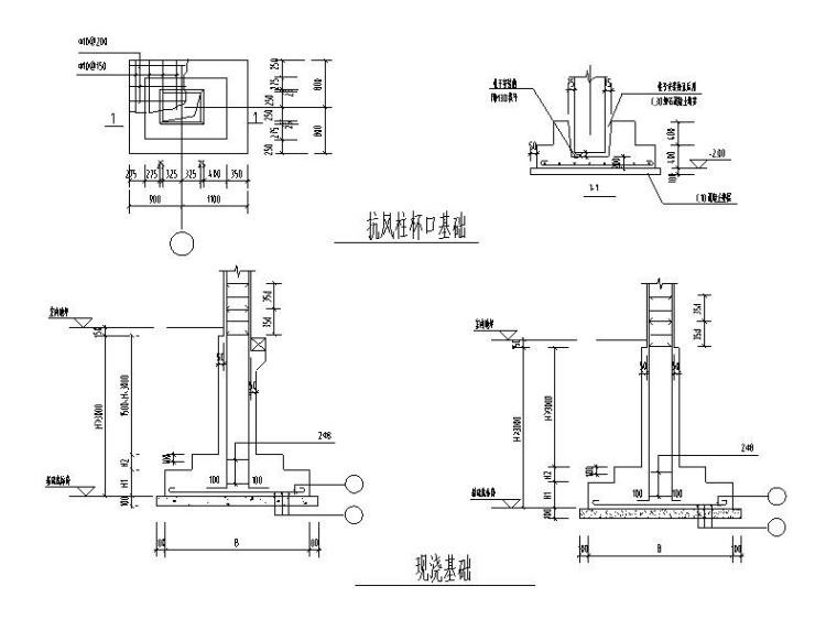 地基基础节点大样图CAD